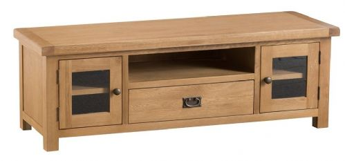 Chelmsford Oak 2 Door Plasma TV Unit